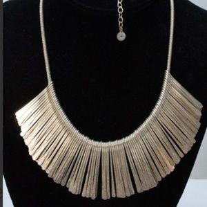 Stella & Dot Silvertone Fringe Statement necklace